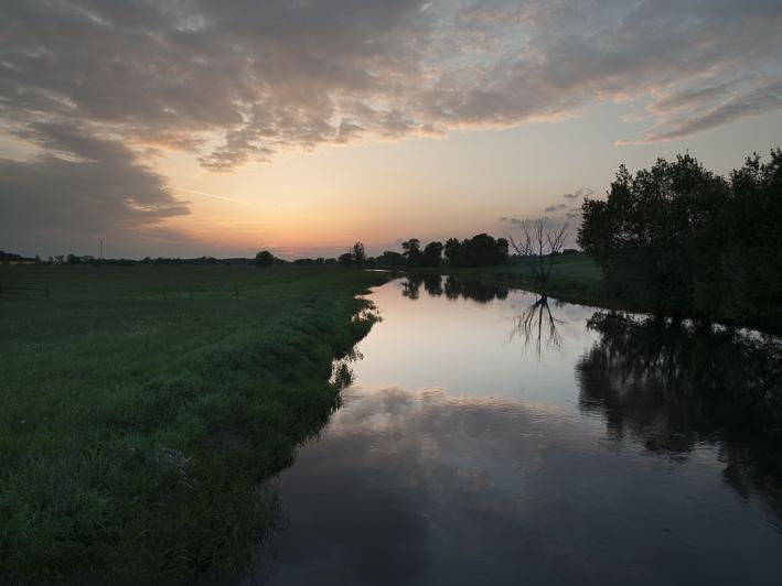 Blick von Chelmno nach Westen über den Ner