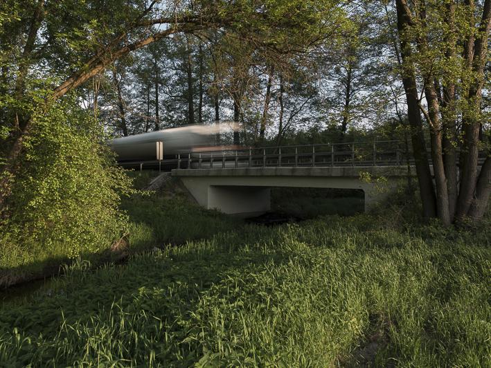 Brücke über die Miazga