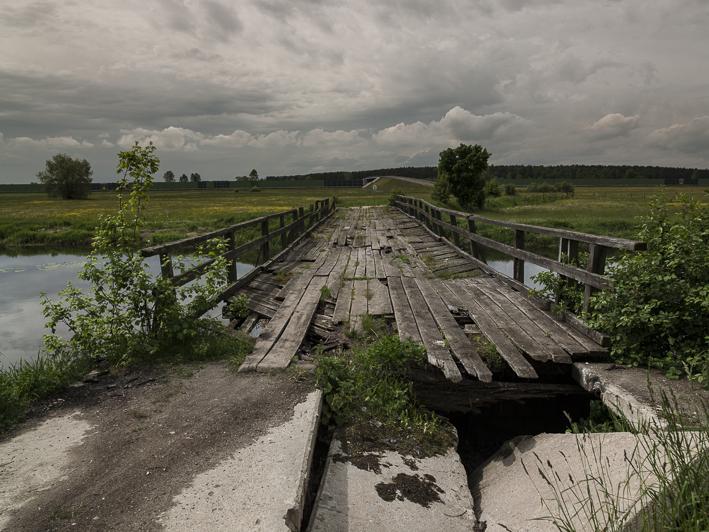 Alte Brücke über den Ner westlich von Chelmno