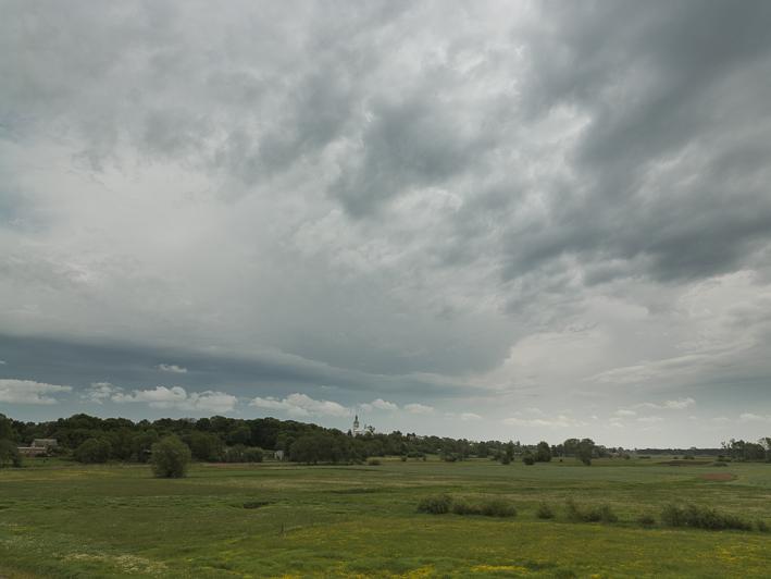 Blick auf Chelmno in östliche Richtung